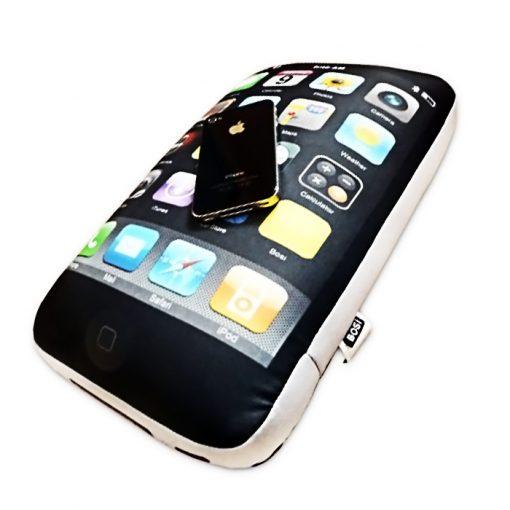 iPhone Mobile Phone Shape Pillow Rectangle Travel Pillow Neck - Black