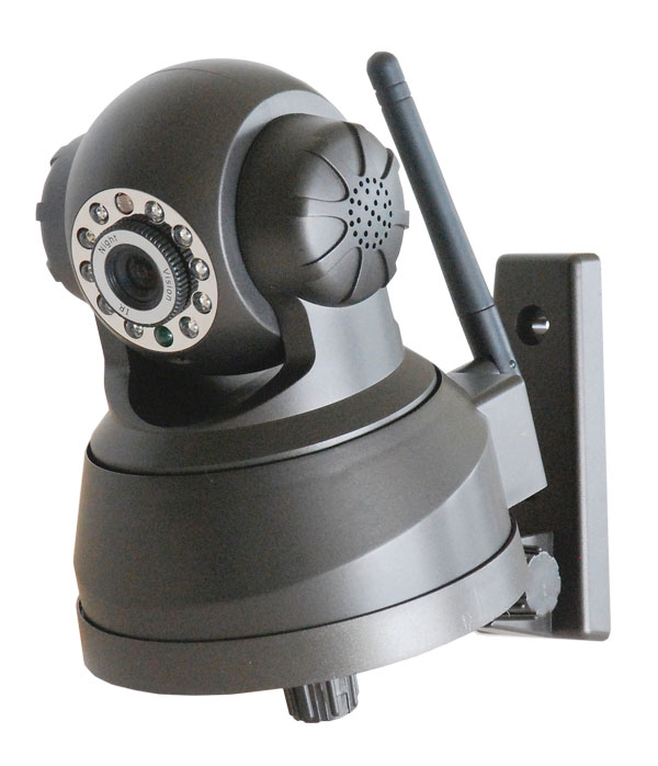 Phone APP Controlled Indoor P2P H.264 HD IP Camera With Pan Tilt And Zoom and SD Card Support - Black