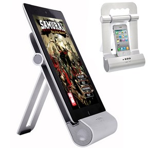 Ipad Iphone Ipod Metal Stand With Speaker