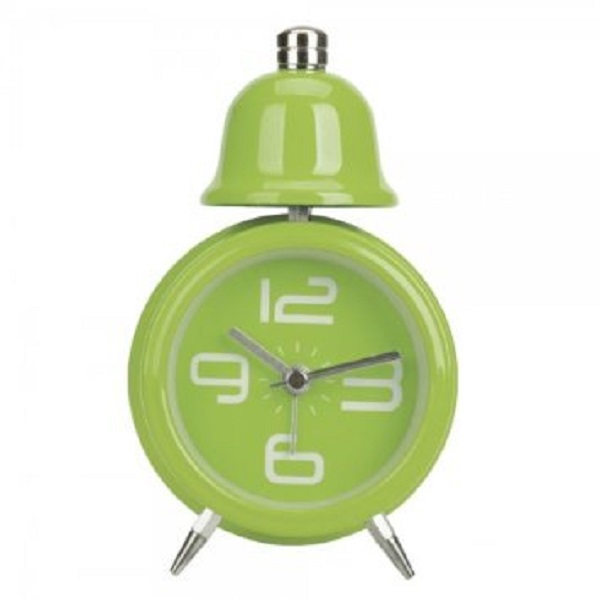Single Bell Korean Alarm Clock - Green