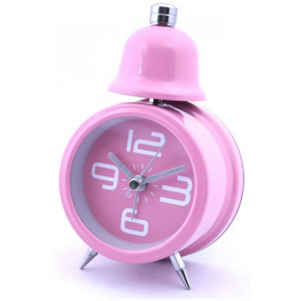 Single Bell Korean Alarm Clock - Pink