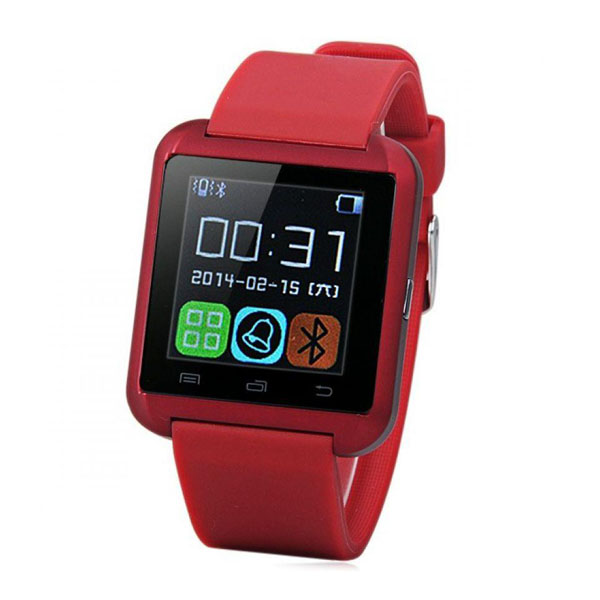 Bluetooth Smart Watch for Smart Phones - Red