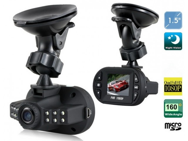 "1080P Mini 1.5"" Car Blackbox DVR With G-sensor And Cycle Recording - Black"