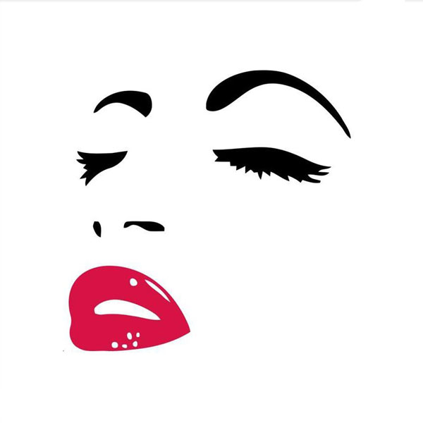 Marilyn Monroe Red Lips 3D Removable Wall Decal Sticker