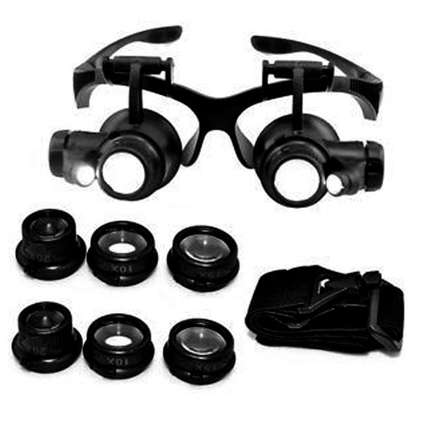 Precision Watch And Jewelry Repair Magnifying Glasses  - Black